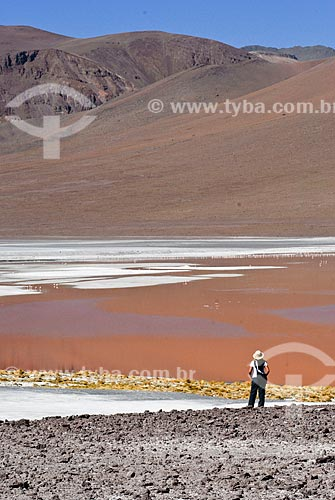 Assunto: Laguna Colorada - Reserva nacional Eduardo Avaroa - A caminho do Salar de Uyuni  / Local: Bolivia - América do Sul / Data: 01/2011