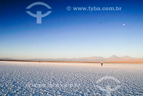 Assunto: Laguna Tebinquiche no Salar de Atacama com Vulcão Licancabur ao fundo / Local: Deserto de Atacama - Chile - América do Sul / Data: 01/2011