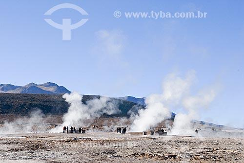 Assunto: Águais termais perto dos Geiseres del Tatio / Local: Deserto de Atacama - Chile - América do Sul / Data: 01/2011