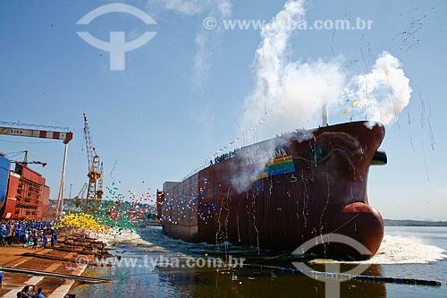 Assunto: Batismo do navio Abreu e Lima - Estaleiro EISA / Local: Ilha do Governador - Rio de Janeiro (RJ) - Brasil / Data: 11/2009
