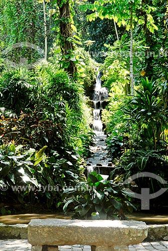 Assunto: Cascata no Jardim Botânico  / Local: Jardim Botânico - Rio de Janeiro (RJ) - Brasil / Data: 11/2010