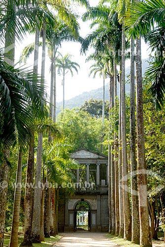 Assunto: Pórtico da antiga Academia Imperial de Belas Artes no Jardim Botânico / Local: Jardim Botânico - Rio de Janeiro (RJ) - Brasil / Data: 11/2010