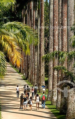 Assunto: Turistas passeando no Jardim Botânico / Local: Jardim Botânico - Rio de Janeiro (RJ) - Brasil / Data: 11/2010