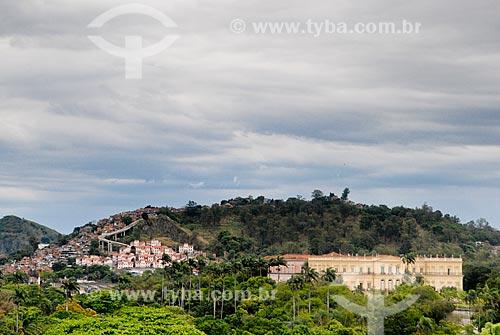 Assunto: Vista de parte do Morro da Mangueira e  da Quinta da Boa Vista / Local: São Cristovão - Rio de Janeiro (RJ) - Brasil / Data: 10/2009