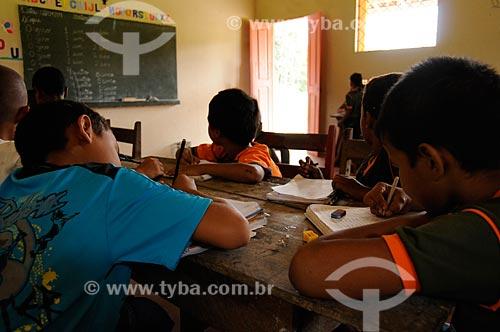 Assunto: Escola rural  do território quilombola de Santa Maria do Traquateua / Local: Moju - Pará (PA) - Brasil / Data: 02-04- 2009