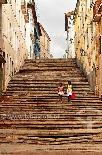 Assunto: Escadaria na Rua do Giz / Local: São Luís - Maranhão (MA) - Brasil / Data: 06/2011