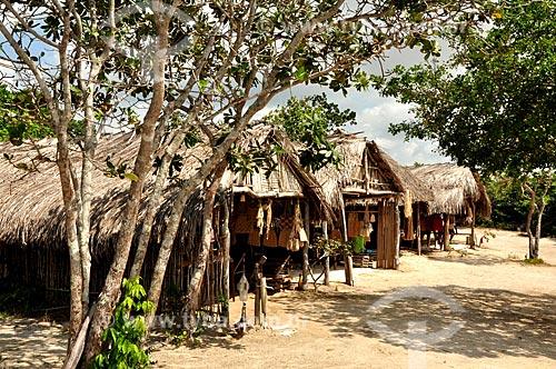 Assunto: Quiosques de apoio - ponto de subida  para as dunas da Lagoa Bonita. / Local: Barreirinhas - Maranhão (MA) - Brasil / Data: 07/2011