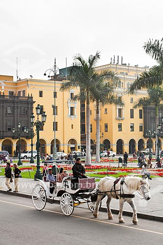Assunto: Plaza Mayor de Lima ou Plaza de Armas / Local: Lima - Departamento de Lima - Peru - América do SUl / Data: 08/2011