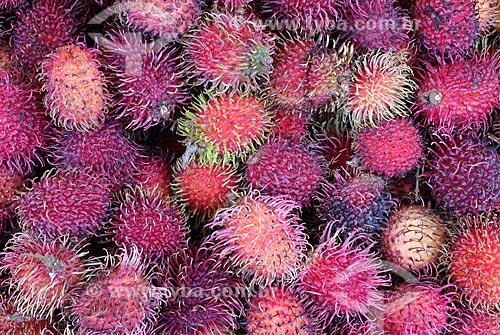Assunto: Rambutã no Mercado Ver-o-peso / Local: Belém - Pará (PA) - Brasil / Data: 02/2008