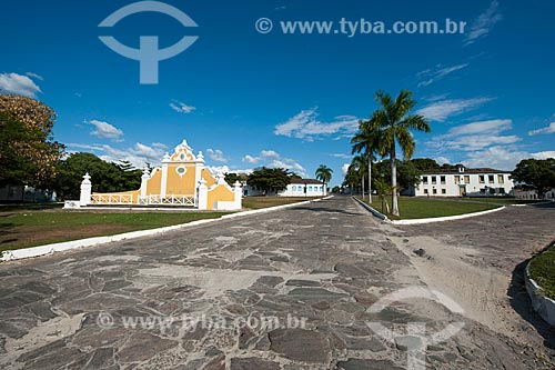 Assunto: Largo do Chafariz e a direita Museu das Bandeiras ,  antiga Casa de Câmara e Cadeia / Local: Goiás - Goiás (GO) - Brasil / Data: 07/2011