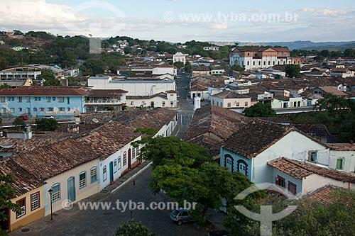 Assunto: Vista de cima da cidade de Goiás a partir da torre da Igreja do Rosário - Rua Cândido Penso / Local: Goiás - Goiás (GO) - Brasil / Data: 07/2011