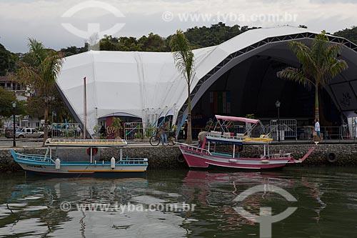 Assunto: Tenda montada para a Festa Literária Internacional de Paraty - FLIP  / Local: Paraty - Rio de Janeiro (RJ) - Brasil / Data: 07/2011