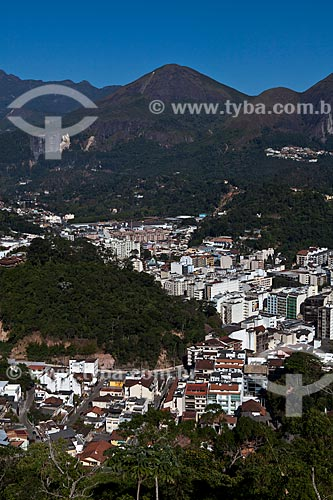 Assunto: Centro de Nova Friburgo visto a partir do Bairro Suiço (também conhecido como Loteamento Suiço)  / Local: Nova Friburgo - Rio de Janeiro (RJ) - Brasil / Data: 06/2011