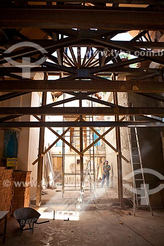 Assunto: Obra de restauração da Capela de Santo Antônio parcialmente destruída pelas chuvas de Janeiro de 2011   / Local: Nova Friburgo - Rio de Janeiro (RJ) - Brasil  / Data: 06/2011