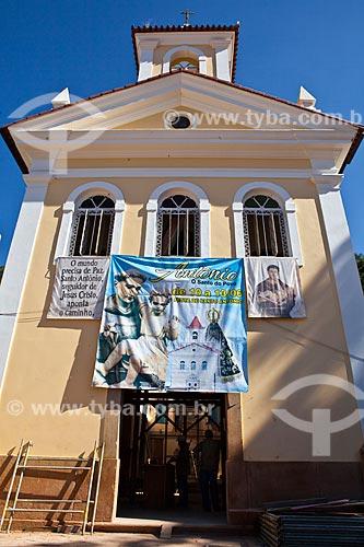 Assunto: Fachada da Capela de Santo Antônio parcialmente destruída pelas chuvas de Janeiro de 2011   / Local: Nova Friburgo - Rio de Janeiro (RJ) - Brasil / Data: 06/2011