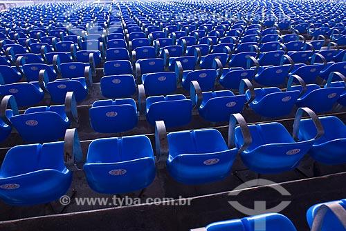 Assunto: Cadeiras azuis no Estádio Jornalista Mário Filho  / Local: Rio de Janeiro  (RJ) -  Brasil / Data: 06/2010