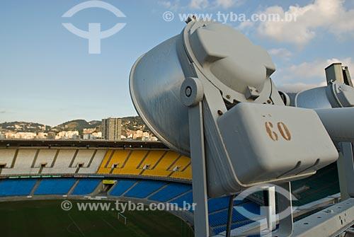 Assunto: Sistema de iluminação do Estádio Jornalista  Mário Filho - Maracanã / Local: Rio de Janeiro (RJ) -  Brasil / Data: 06/2010