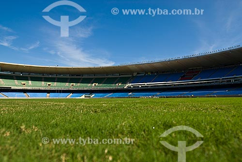 Assunto: Vista do campo de futebol do Estádio Jornalista Mário Filho - Maracanã / Local: Rio de Janeiro (RJ) -  Brasil / Data: 06/2010