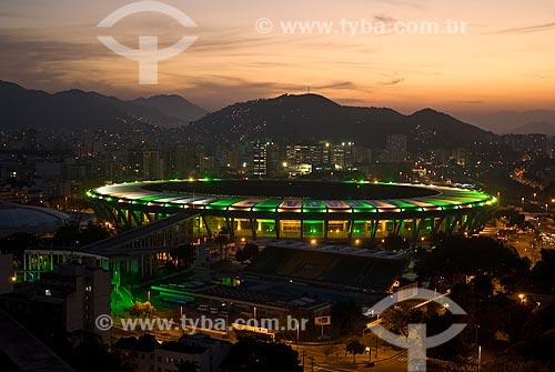 Assunto: Vista do Estádio Jornalista Mário Filho - Maracanã - e do Parque Aquático Júlio Delamare / Local: Rio de Janeiro (RJ) -  Brasil / Data: 06/2010
