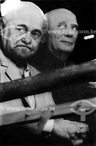 Assunto: Tancredo Neves e Ulysses Guimarães no Comício das Diretas em frente a Igreja de Nossa Senhora da Candelária / Local: Rio de Janeiro (RJ) -  Brasil / Data: 04/1984