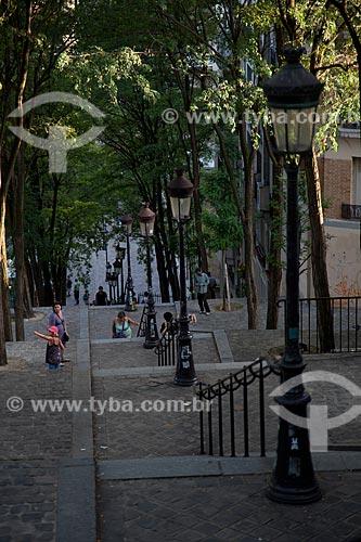 Assunto: Escadarias em Montmartre - Bairro boêmio de Paris / Local: Montmartre - Paris - França - Europa / Data: 08/2011