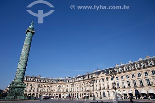 Assunto: Coluna da Place Vendôme / Local: Paris - França - Europa / Data: 08/2011