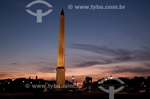 Assunto: Obélisque de Louxor - Place de la Concorde / Local: Paris - França - Europa / Data: 08/2011
