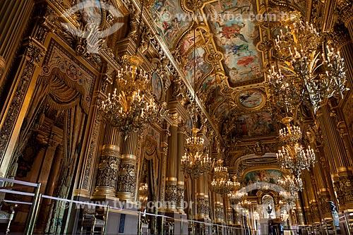 Assunto: Interior da Ópera Garnier - Ópera de Paris / Local: Paris - França - Europa / Data: 08/2011