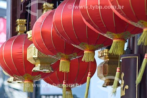 Assunto: Lanternas da boa sorte / Local: Xangai - China - Ásia / Data: 11/2006