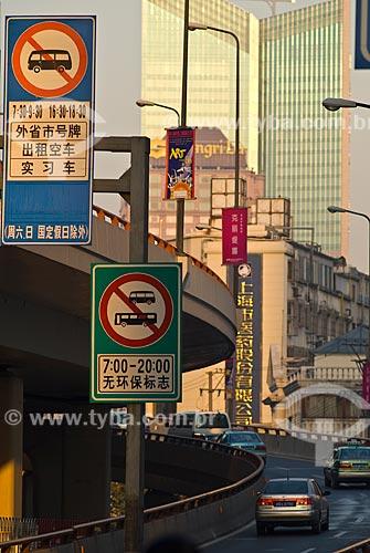 Assunto: Sinais de trânsito / Local: Xangai - China - Ásia / Data: 11/2006