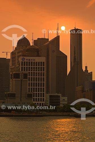 Assunto: Vista do Distrito de Pudong / Local: Xangai - China - Ásia / Data: 05/2010