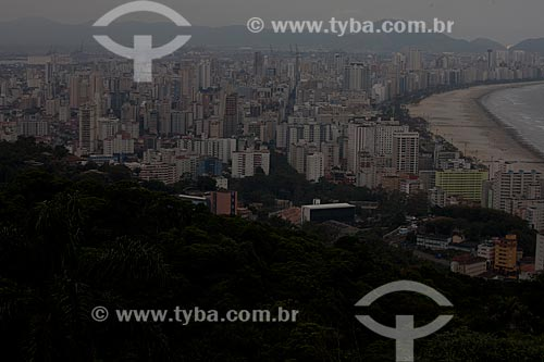 Assunto: Vista panorâmica de Santos a partir do Morro do Itararé / Local: Santos - São Paulo (SP) - Brasil / Data: 08/2011