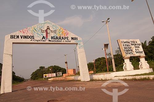 Assunto: Portal de entrada da cidade de Igarapé-Miri / Local: Igarapé-Miri - Pará (PA) - Brasil / Data: 12/2008