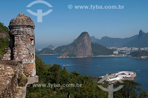 Assunto: Forte Barão do Rio Branco com cidade do Rio de Janeiro ao fundo / Local: Jurujuba - Niterói - Rio de Janeiro (RJ) - Brasil / Data: 08/2009