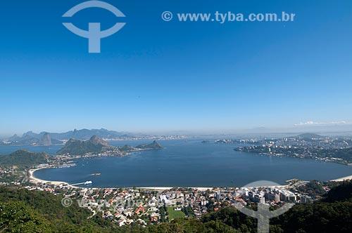 Assunto: Vista da Praia de Charitas com a cidade do Rio de Janeiro ao fundo / Local: Niterói - Rio de Janeiro (RJ) - Brasil / Data: 08/2009