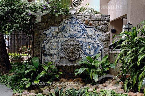 Assunto: Fonte da Saudade - Fonte que deu origem ao bairro / Local: Lagoa - Rio de Janeiro (RJ) - Brasil / Data: 12/2007