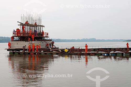 Assunto: Construção de ponte sobre o Rio Araguaia - Ligando os municípios de Araguatins (TO) à Porto Jarbas Passarinho (PA)  / Local: Porto Jarbas Passarinho - Pará (PA) - Brasil  / Data: 11/2009
