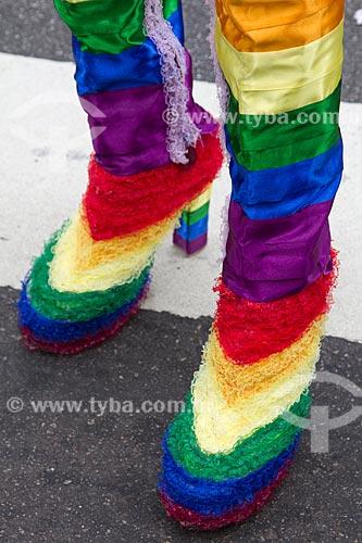 Assunto: Detalhe de sapato na Parada Gay / Local: São Paulo (SP) - Brasil / Data: 06/2011