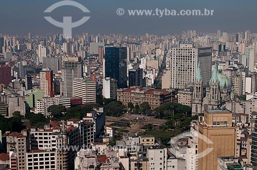 Assunto: Vista da Catedral da Sé (Catedral Metropolitana de São Paulo) e Praça da Sé a partir do prédio do Banespa / Local: São Paulo (SP) - Brasil / Data: 06/2009