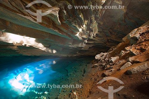 Assunto: Poço Azul na Chapada Diamantina / Local: Iraquara - Bahia (BA) - Brasil / Data: 07/2011