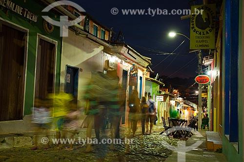 Assunto: Rua das Pedras - área que concentra bares e restaurantes  / Local: Lençóis - Bahia (BA) - Brasil / Data: 07/2011