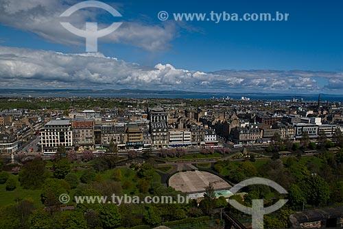 Assunto: Vista geral da cidade a partir do Castelo de Edimburgo / Local: Edimburgo - Escócia - Europa / Data: 05/2010