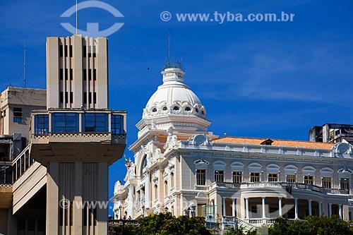 Assunto: Elevador Lacerda e Palácio Rio Branco ( antiga sede do governo da Bahia) / Local: Salvador - Bahia (BA) - Brasil / Data: 07/2011