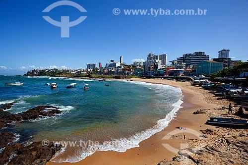 Assunto: Praia e edifícios do Rio Vermelho / Local: Salvador - Bahia (BA) - Brasil / Data: 07/2011