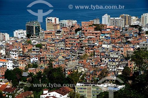 Assunto: Morro do Cantagalo com prédios de Ipanema ao fundo / Local: Copacabana - Rio de Janeiro (RJ) - Brasil / Data: 07/2011