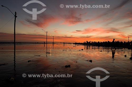 Assunto: Entardecer na Praia do Cassino / Local: Rio Grande - Rio Grande do Sul (RS) - Brasil / Data: 02/2009