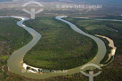 Assunto: Vista aérea do Rio Kuluene / Local: Querência - Mato Grosso (MT) - Brasil / Data: 07/2011