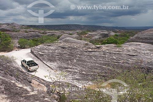 Assunto: Caminhonete no Parque Nacional da Serra das Confusões / Local: Caracol - Piauí (PI) - Brasil / Data: 10/2009