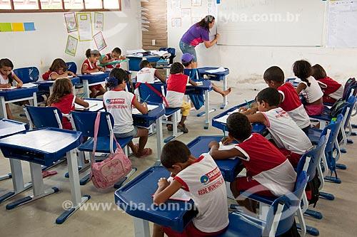 Assunto: Escola municipal de ensino fundamental da Vila Produtiva Rural Uri - Desapropriados para construir o reservatório Negreiros - Transposição do Rio São Francisco / Local: Salgueiro - Pernambuco (PE) - Brasil / Data: 05/2011