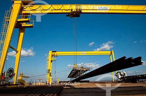 Assunto: Descarga de trilhos para a obra da Ferrovia Transnordestina - TLSA - Transnordestina Logística S/A / Local: Salgueiro - Pernambuco (PE) - Brasil / Data: 10/2011